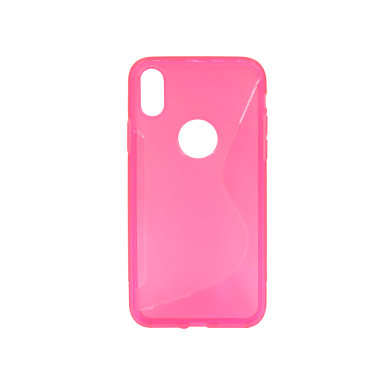 Apple iPhone X / XS - Gumiran ovitek (TPU) - roza-prosojen SLine