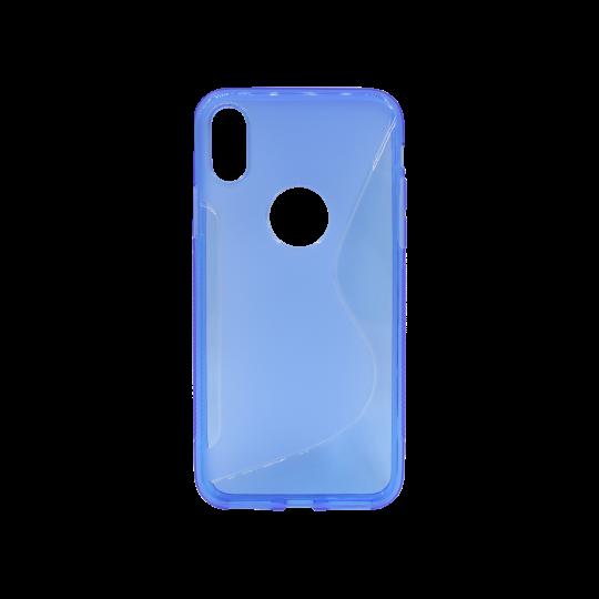 Apple iPhone X / XS - Gumiran ovitek (TPU) - modro-prosojen SLine