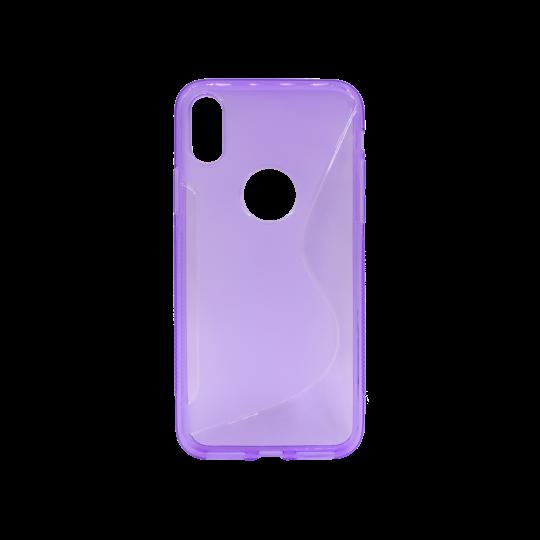 Apple iPhone X / XS - Gumiran ovitek (TPU) - vijolično-prosojen SLine
