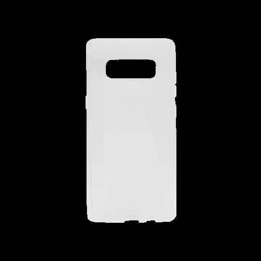 Samsung Galaxy Note 8 - Gumiran ovitek (TPU) - belo-prosojen CS-Type