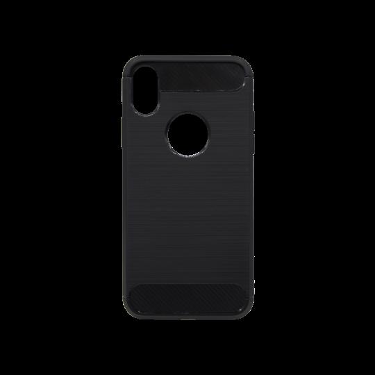 Apple iPhone X / XS - Gumiran ovitek (TPU) - črn A-Type
