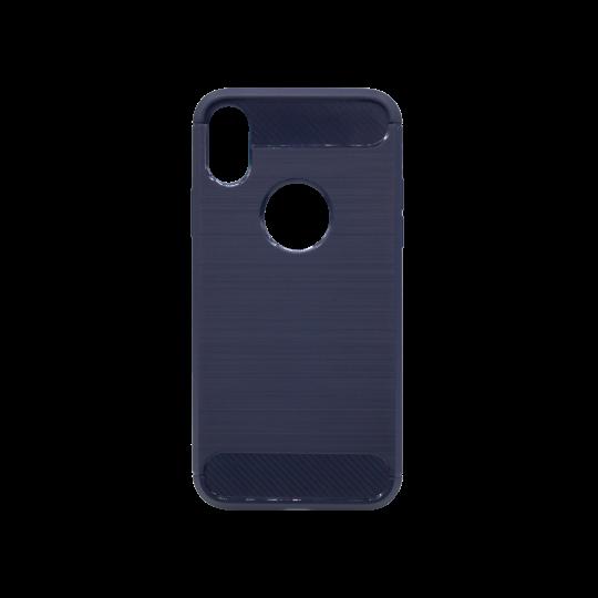 Apple iPhone X / XS - Gumiran ovitek (TPU) - moder A-Type