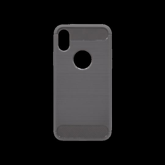 Apple iPhone X / XS - Gumiran ovitek (TPU) - siv A-Type