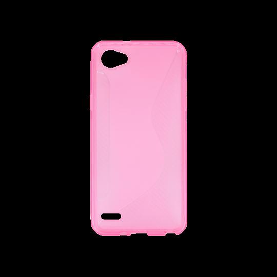LG Q6 - Gumiran ovitek (TPU) - roza-prosojen CS-Type