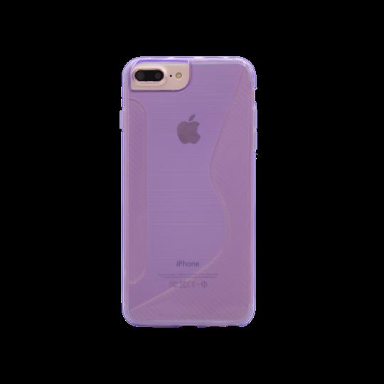 Apple iPhone 6/6S/7/8 Plus - Gumiran ovitek (TPU) - vijolično-prosojen CS-Type