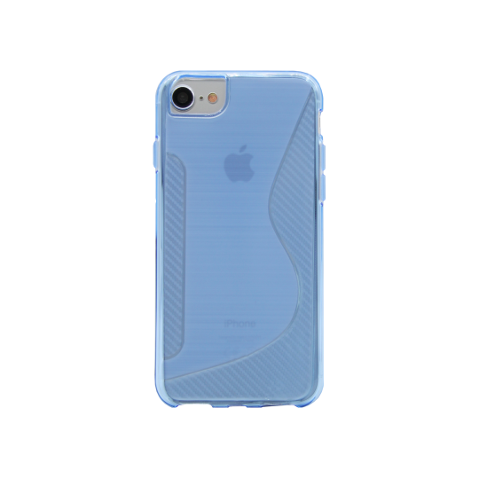 Apple iPhone 6/6S/7/8 - Gumiran ovitek (TPU) - modro-prosojen CS-Type
