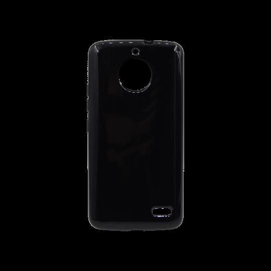 Motorola Moto E4 - Gumiran ovitek (TPU) - črn svetleč