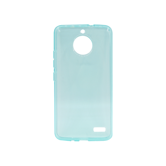 Motorola Moto E4 - Gumiran ovitek (TPU) - turkizno-prosojen svetleč