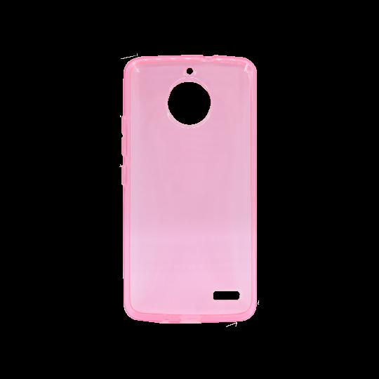 Motorola Moto E4 - Gumiran ovitek (TPU) - roza-prosojen svetleč