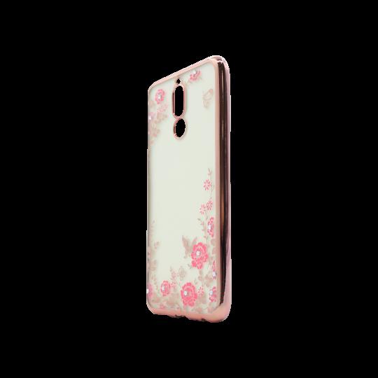 Huawei Mate 10 Lite - Gumiran ovitek (TPUE) - roza rob - roza rožice
