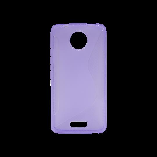 Motorola Moto C - Gumiran ovitek (TPU) - vijolično-prosojen CS-Type