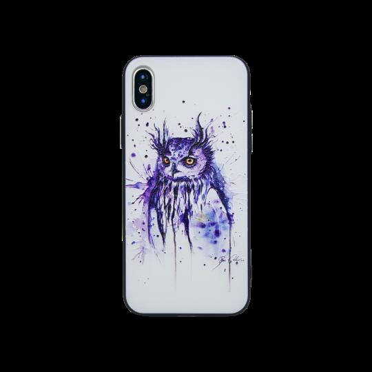 Apple iPhone X / XS - Gumiran ovitek (TPUP) - Owl