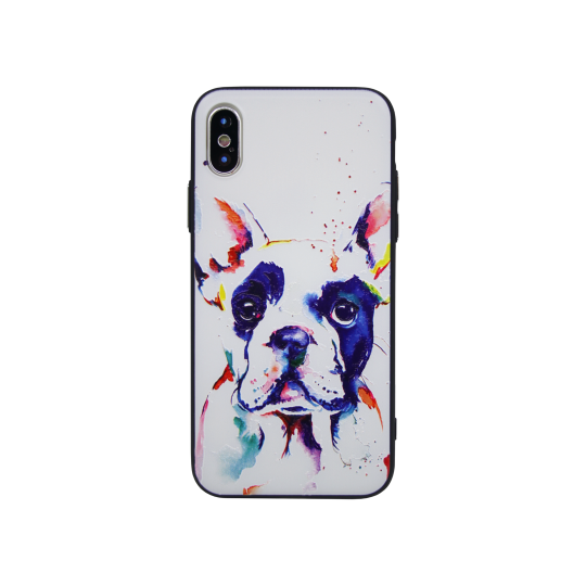 Apple iPhone X - Gumiran ovitek (TPUP) - Dog
