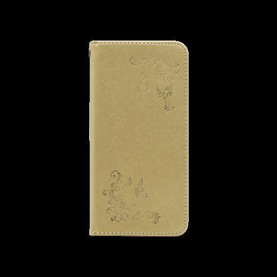 Samsung Galaxy A8 (2018) - Preklopna torbica (WLGO-Butterfly) - zlata