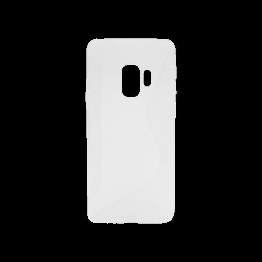 Samsung Galaxy S9 - Gumiran ovitek (TPU) - belo-prosojen CS-Type