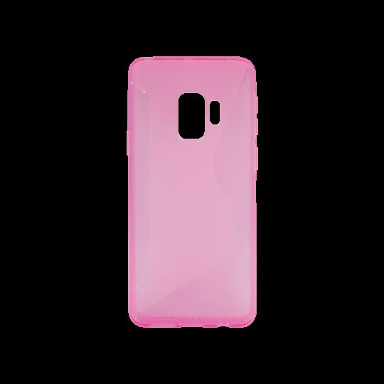 Samsung Galaxy S9 - Gumiran ovitek (TPU) - roza-prosojen CS-Type