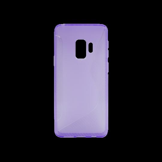 Samsung Galaxy S9 - Gumiran ovitek (TPU) - vijolično-prosojen CS-Type