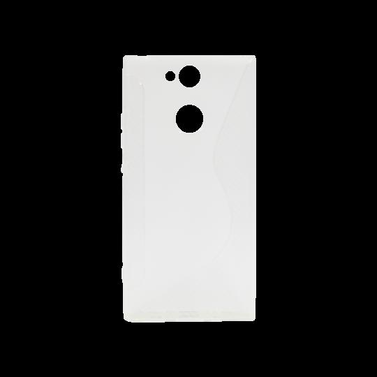 Sony Xperia XA2 - Gumiran ovitek (TPU) - belo-prosojen CS-Type