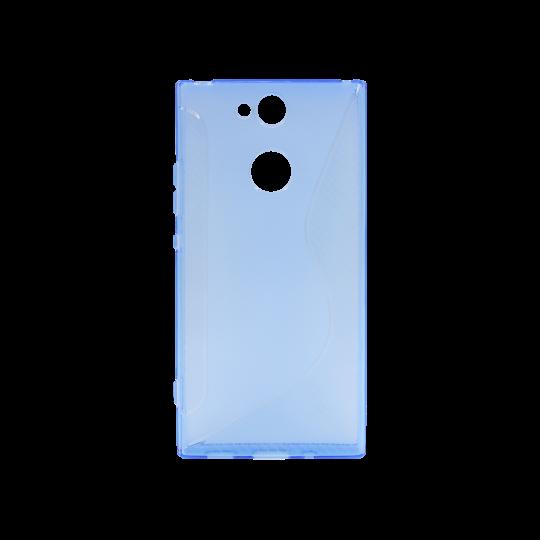 Sony Xperia XA2 - Gumiran ovitek (TPU) - modro-prosojen CS-Type