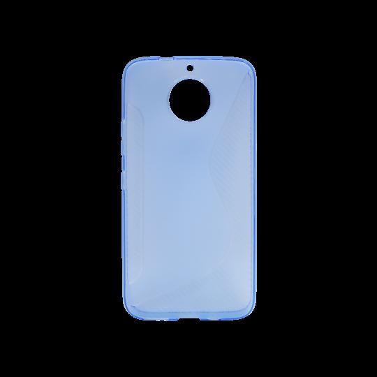 Motorola Moto G5s Plus - Gumiran ovitek (TPU) - modro-prosojen CS-Type