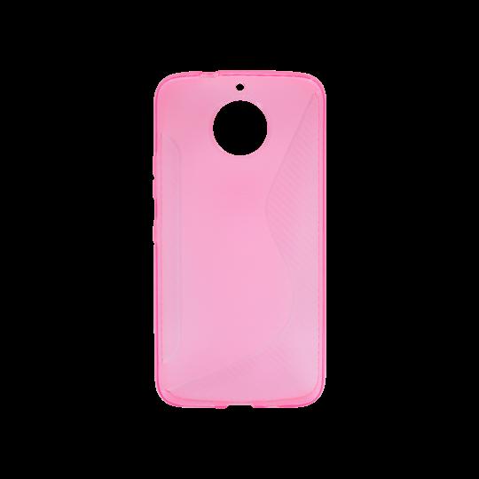 Motorola Moto G5s Plus - Gumiran ovitek (TPU) - roza-prosojen CS-Type