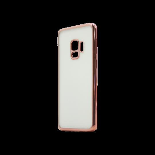 Samsung Galaxy S9 - Gumiran ovitek (TPUE) - rob roza-zlat