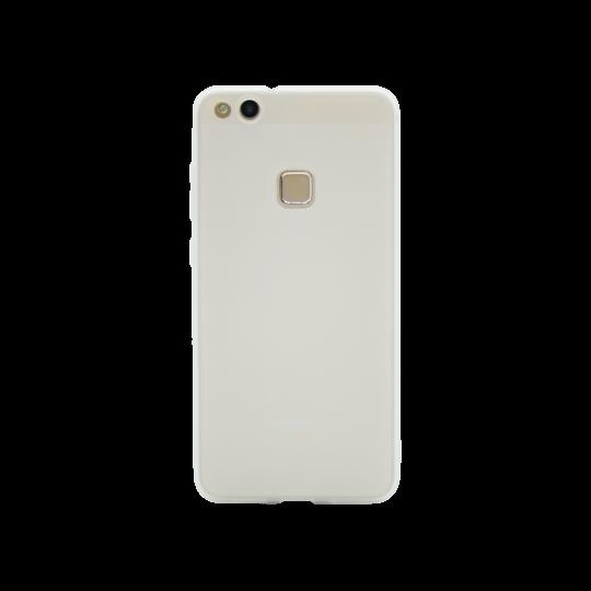 Huawei P10 Lite - Gumiran ovitek (TPU) - belo-prosojen MATT