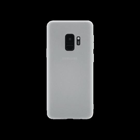 Samsung Galaxy S9 - Gumiran ovitek (TPU) - belo-prosojen MATT