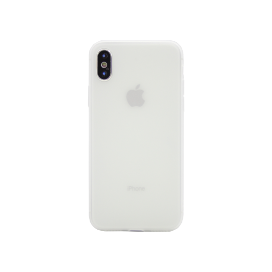 Apple iPhone X / XS - Gumiran ovitek (TPU) - belo-prosojen MATT