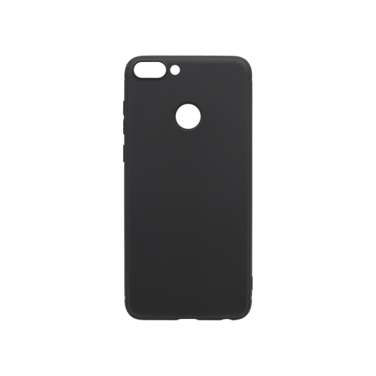 Huawei P Smart - Gumiran ovitek (TPU) - črn MATT