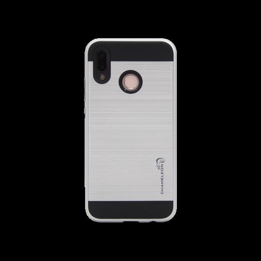 Huawei P20 Lite - Gumiran ovitek (ARM-01) - srebrn