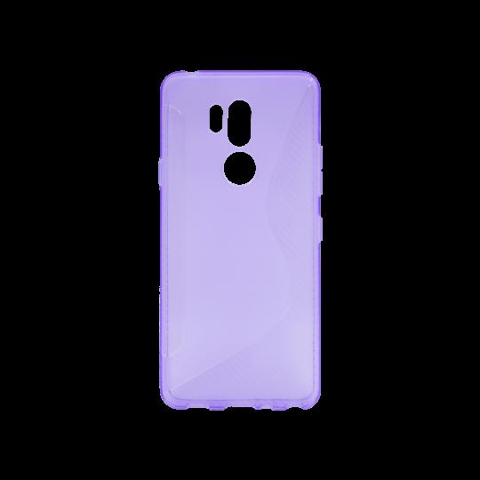 LG G7 ThinQ - Gumiran ovitek (TPU) - vijolično-prosojen CS-Type
