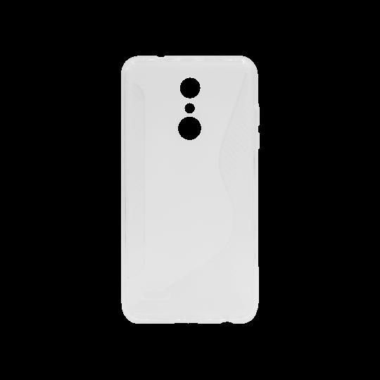 LG K10 (2018) / K11 - Gumiran ovitek (TPU) - belo-prosojen CS-Type