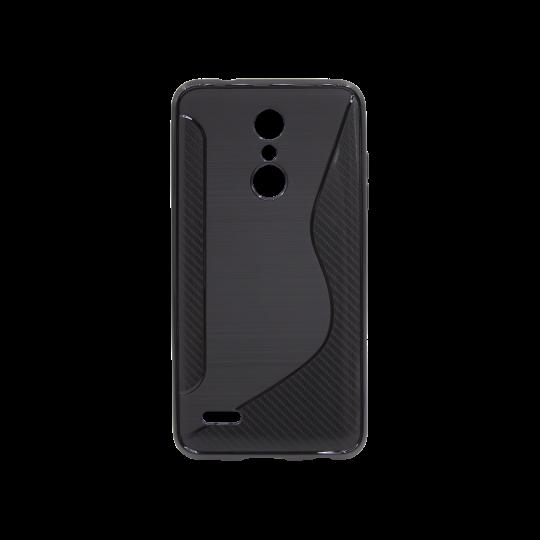 LG K10 (2018) / K11 - Gumiran ovitek (TPU) - črn CS-Type