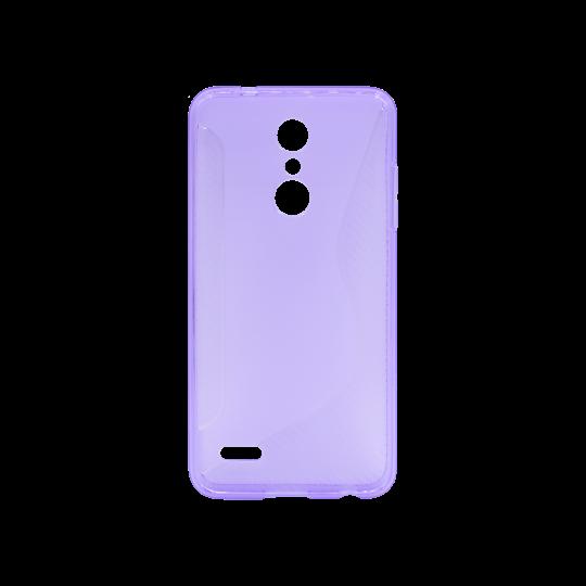 LG K10 (2018) / K11 - Gumiran ovitek (TPU) - vijolično-prosojen CS-Type