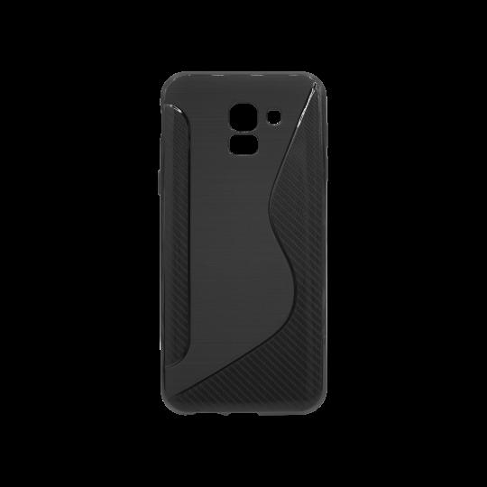 Samsung Galaxy J6 - Gumiran ovitek (TPU) - črn CS-Type