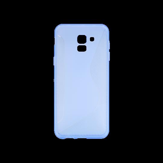 Samsung Galaxy J6 - Gumiran ovitek (TPU) - modro-prosojen CS-Type