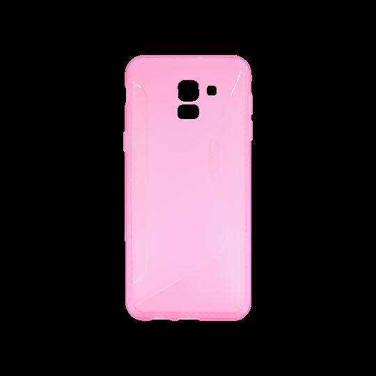 Samsung Galaxy J6 - Gumiran ovitek (TPU) - roza-prosojen CS-Type