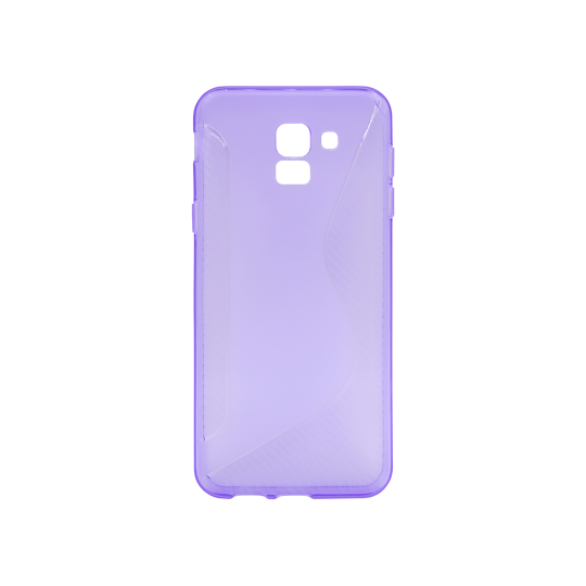 Samsung Galaxy J6 - Gumiran ovitek (TPU) - vijolično-prosojen CS-Type
