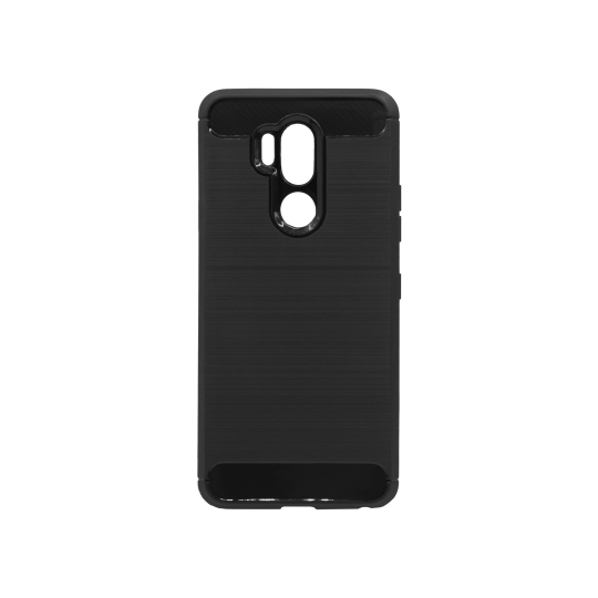 LG G7 ThinQ - Gumiran ovitek (TPU) - črn A-Type