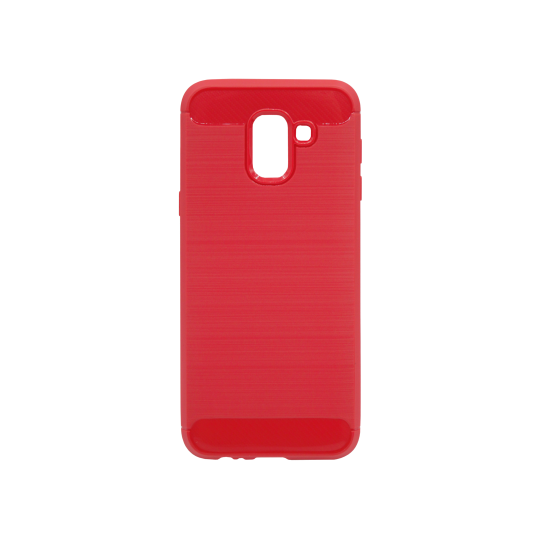 Samsung Galaxy J6 - Gumiran ovitek (TPU) - rdeč A-Type