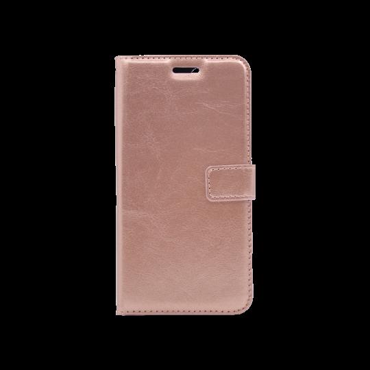 Huawei Y6 (2018) - Preklopna torbica (WLC) - roza-zlata
