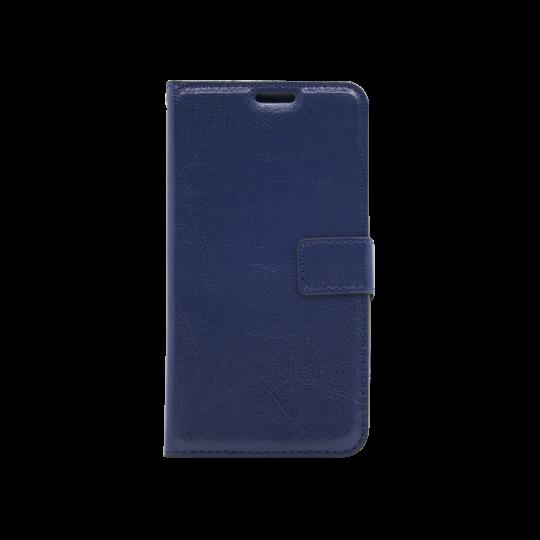 LG K10 (2018) / K11 - Preklopna torbica (WLC) - temno modra