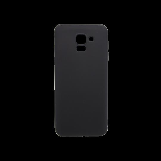 Samsung Galaxy J6 - Gumiran ovitek (TPU) - črn MATT