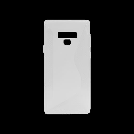 Samsung Galaxy Note 9 - Gumiran ovitek (TPU) - belo-prosojen CS-Type