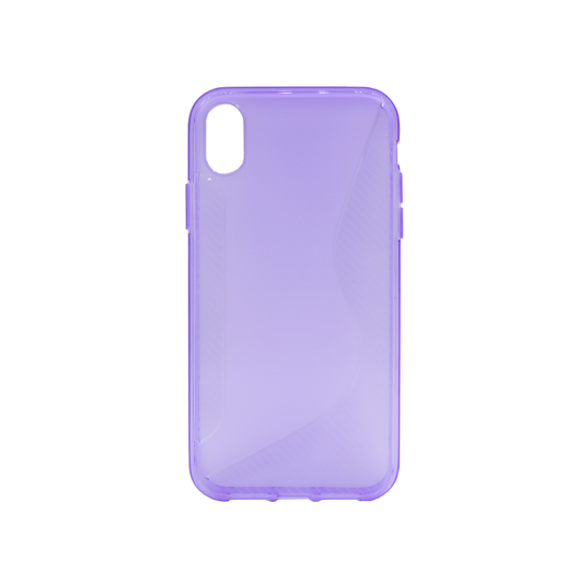 Apple iPhone XR - Gumiran ovitek (TPU) - vijolično-prosojen CS-Type
