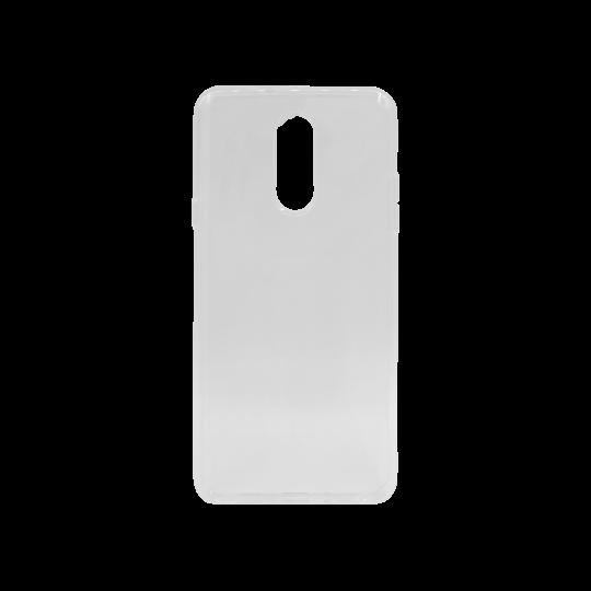 LG Q Stylus - Gumiran ovitek (TPU) - belo-prosojen svetleč