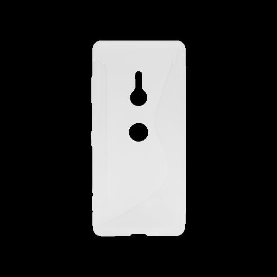 Sonx Xperia XZ3 - Gumiran ovitek (TPU) - belo-prosojen CS-Type