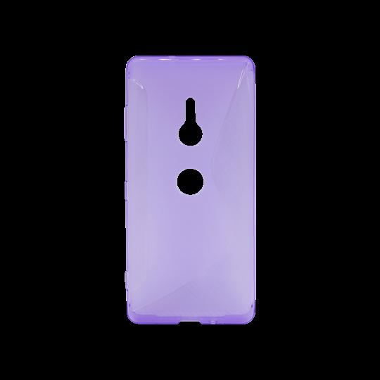 Sonx Xperia XZ3 - Gumiran ovitek (TPU) - vijolično-prosojen CS-Type