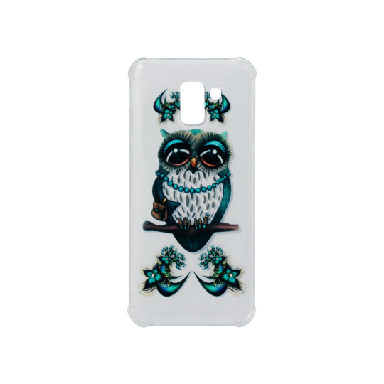 Samsung Galaxy J6 (2018) - Gumiran ovitek (TPUP) - Sleepy owl